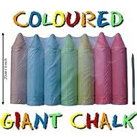 7x Giant Coloured Chalk (each 19cm x 45mm ø)