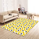 Moderne einfache rechteckige Teppich Wohnzimmer Hotel Restaurant Tische und Stühle Couchtisch Teppich Matten Schlafzimmer Teppich gelb ( größe : 140cm*200cm )