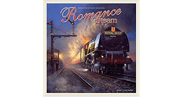 FREE UK POSTAGE ROMANCE OF STEAM TRAINS CALENDAR 2020 WALL SQUARE NEW SEALED