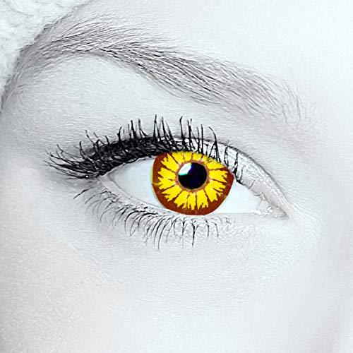 2x WERWOLF Kontaktlinsen Farbige red funlinsen, crazy contact lenses, Werewolf 1 Paar + gratis Kontaktlinsenbehälter