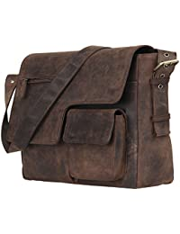 Leaderachi Men's Muskat Hunter Leather Messenger Bag - Brescia