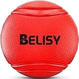 [Gesponsert]Hundeball von BELISY für besonders hohen Spiel-Spaß – Hunde-Spielzeug aus Natur-Gummi – Kau-Ball/Kauspielzeug/Gummiball – robuster Hundespielball für große und kleine Hunde – auch für Welpen geeignet - Farbe Rot