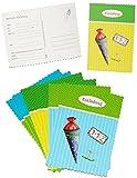 6 tlg. Set Einladungskarten - Schultüte mit Glitzer - für Jungen & Mädchen - Postkarte z.B. für Schulanfang / Schulbeginn - Einladung Karte Schuleinführung Schule Geburtstag - Zuckertüten Postkarten