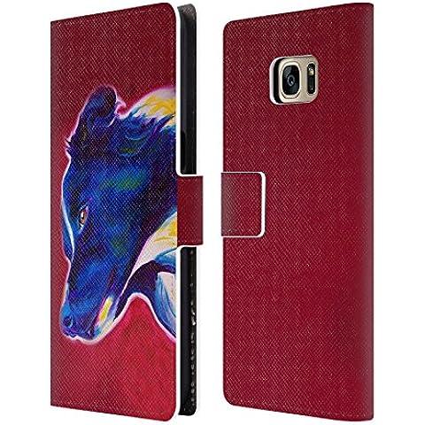 Ufficiale DawgArt Border Collie Cani 2 Cover a portafoglio in pelle per Samsung Galaxy S7 edge