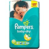 Pampers Baby Dry Taille 3 Midi 4-9kg (70) - Paquet de 2