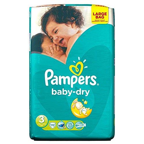 Preisvergleich Produktbild Pampers Baby Dry Größe 3 Midi 4-9kg (70) - Packung mit 2