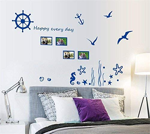 Pegatinas Pared Life On Sea Azul Fancy Anchor Velero