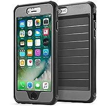 Funda para apple iPhone 6/6s 360° Integral Para Ambas Caras CLOUDSTOO [GRATIS Protector de Pantalla de Vidrio Templado]--(NEGRO/GRIS)