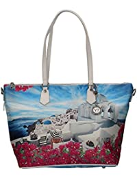 Borsa Y Not santorini white J-397 Shopping grande 86a04b37fba