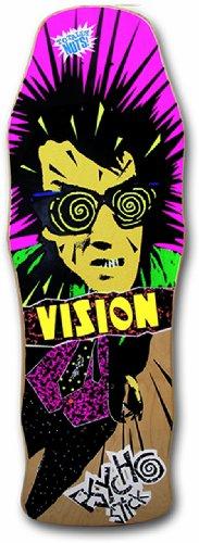 Vision Original Psycho Stick Reissue Skateboard Deck, Natural, 10 x 30-Inch