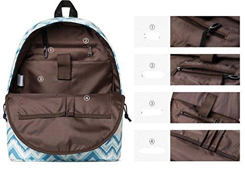 Grande capacit¨¤ di luce borsa a tracolla,stampa zaino da viaggio ,borsa per studenti-A A