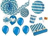 105-tlg. Partyset Oktoberfest Bierfest Dekoset Dekobox - Geschirr, Girlanden, Luftballons