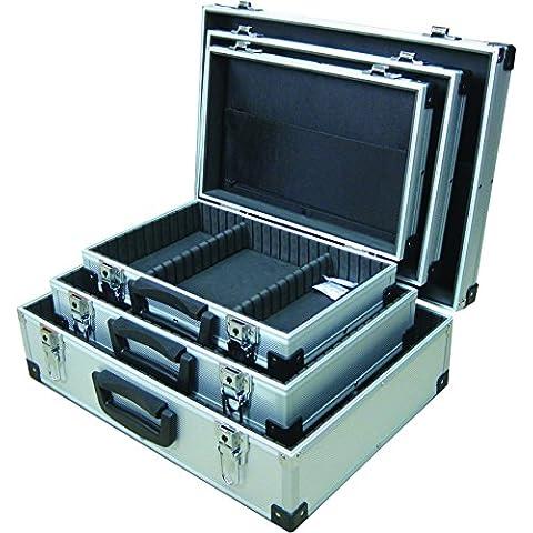 Maplin - Juego de 3 maletas metálicas (tamaño grande, mediano y pequeño)