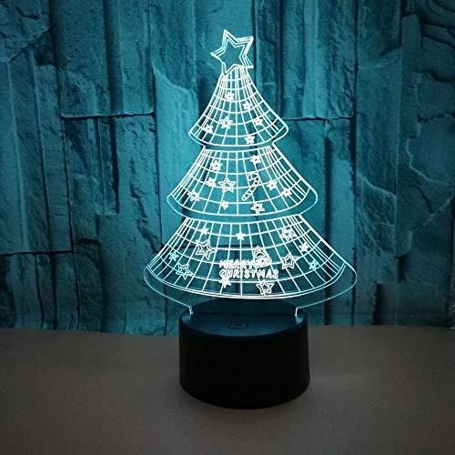 Led Nachtlicht,Nachttischlampe Beleuchtet Bunte Note Geführte Visuelle Helle Geschenkatmosphäre Weihnachtsbaum Geführte Tischlampe A643