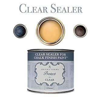 Amitha Verma Clear Wax and Sealer for Chalk Finish Paint | Durable, Fast Drying DIY Protection for Wood Furniture & Other Surfaces, 16 oz by Amitha Verma
