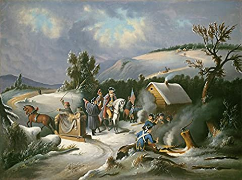 PAINTING 19TH CENTURY AMERICAN WASHINGTON AT VALLEY FORGE POSTER PRINT LLF0101