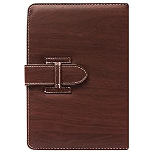 DMG Protective 7in Flip Book Cover Case for Swipe Halo Fone Tablet (Brown) + Black Stereo Earphone with Mic and Volume Control