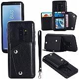 Samsung Galaxy S9 Plus Case, Danallc Closed Women Bumper Flip Cover-Black