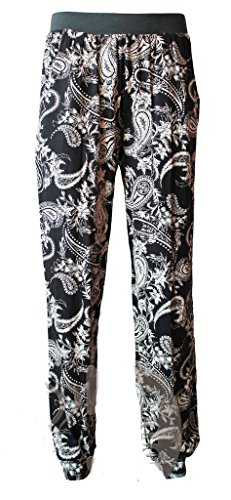 Comfiestyle New Womens Plus Size Paisly Print Harem Trousers.UK 08-26