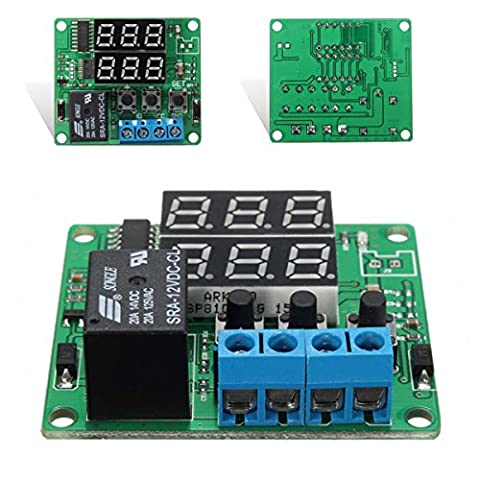 Bluelover Dc12V Double Digital Led Cycle Timing Delay Time Timer Relay Module