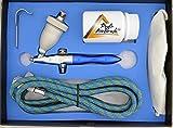 AIRBRUSH PISTOLE f. Airbrush Kompressor : SET - Sandstrahlpistole Sandy I inklusive Strahlgut und Atemschutz - OPTIMALE Airbrush Set Ergänzung