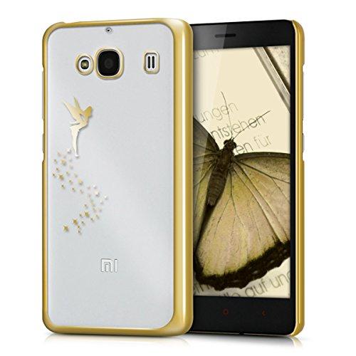 kwmobile Xiaomi Redmi 2 Hülle - Handyhülle für Xiaomi Redmi 2 - Handy Case in Gold Transparent