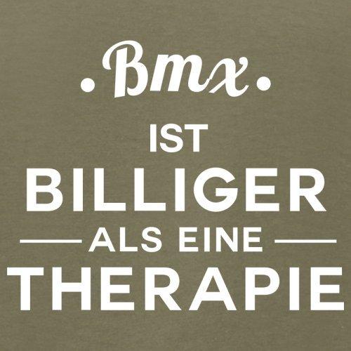 Bmx ist billiger als eine Therapie - Herren T-Shirt - 13 Farben Khaki