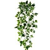 HUAESIN efeugirlande künstlich 3.4 FT efeu künstlich Scindapsus Künstliche Hängepflanzen Lang für Hochzeit Party Garten Festival Balkon Garten Dekor(Grüne)