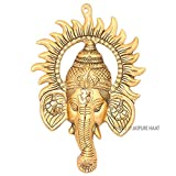 #3: Jaipuri haat Main door Gold plated Right turn trunk Ganesha  Decorative Gift item