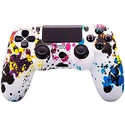 Ociodual Funda para Mando Sony PS4/Slim/Pro Dualshock 4 Manchas de Colores