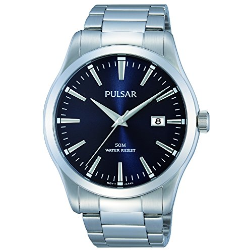 PULSAR- GENTS STAINLESS STEEL BRACELET WATCH