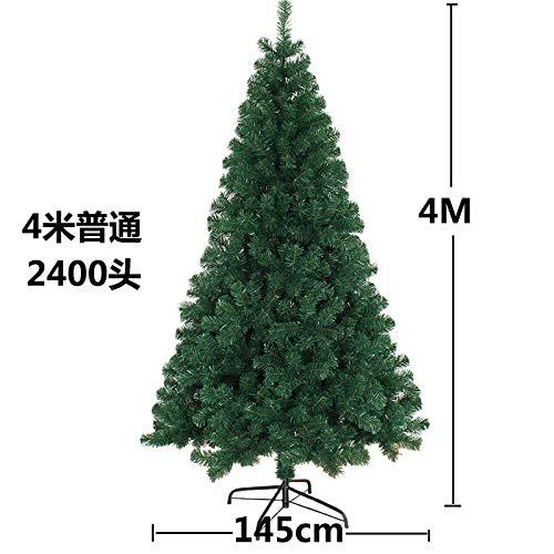 Outdoor-szene (sakj-da Weihnachten 1,2/1,5/1,8/2,1 Meter grün, verschlüsseln Weihnachtsbaum, Kiefer Nadel Baum Outdoor-Szene Dekoration, 4 Meter EIN Baum)