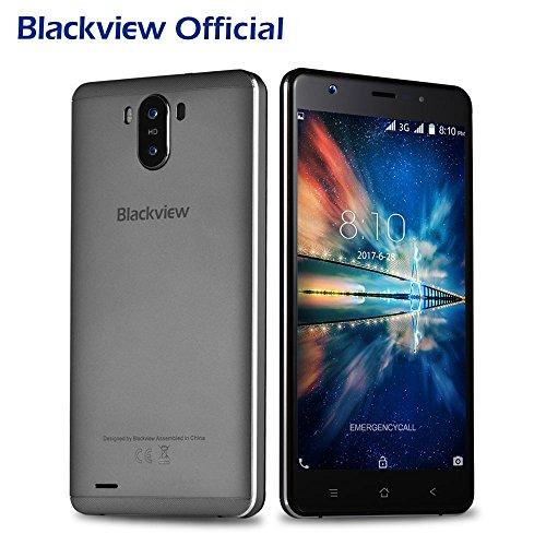 Moviles Baratos, Blackview R6 Lite Dual SIM 3G Smartphone libre (Android 7.0, 5,5 pulgadas, Quad Core, 1GB RAM, 16GB ROM, 3000mAh, 8MP Cámara) GPS, WIFI, Bluetooth 4.0 - Gris