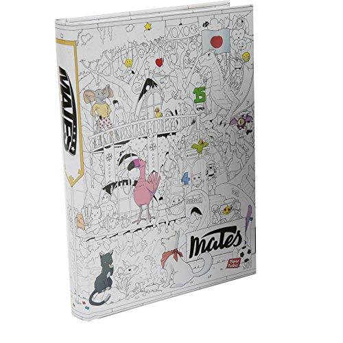 Mates Diario Scuola 10 Mesi, Formato Standard, 320 Pagine, Grafica Illustrata, Collezione 2018/19