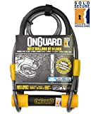 OnGuard Bulldog DT 8012 Bike U Lock with Cable - Sold Secure Silver