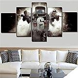 Mddrr Arte De La Pared Foto De La Lona Moderna Home Decor 5 Unidades Rainbow Six Siege Tom Clancy'S Paintings Para Dormitorio Decoración Impresiones Poster