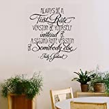 wandaufkleber 3d schlafzimmer Vinyl Removable Wall Stickers Mural Decal Art Always Be A First Rate Version Of Yourself Home Decor