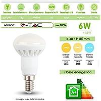 LAMPADINE LED V-Tac E14 VT-1876 LAMPADA CANDELA MINI GLOBO SFERA OLIVA SKU(4243-4138-4246) (Bianco Naturale)