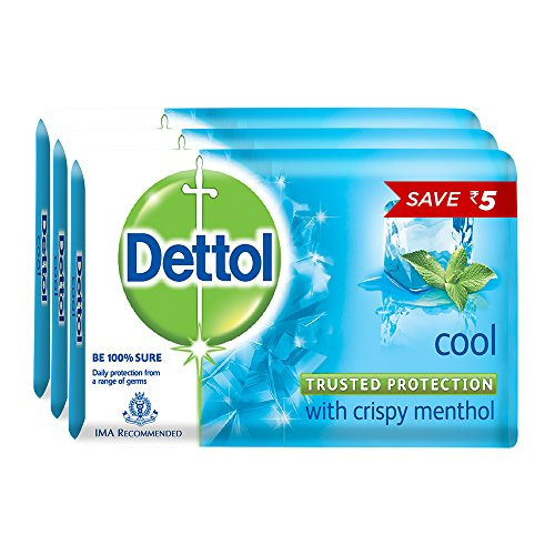 Dettol Soap Value Pack, Cool – (3 Pieces X 125 g) Save Rs 5