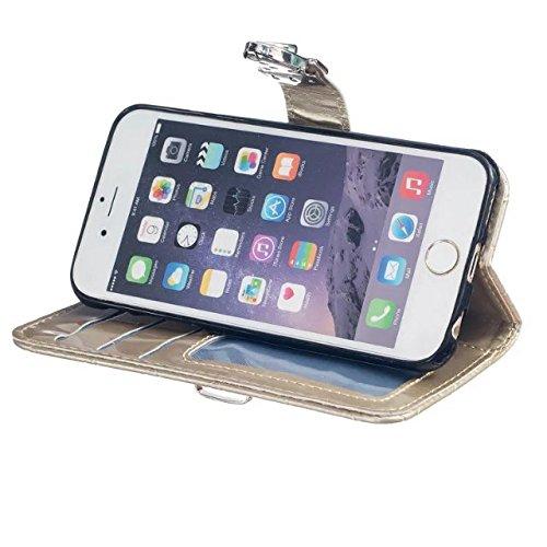 meision iPhone 6plus 6splus Étui en cuir-Pochette Portefeuille en Cuir Synthétique à rabat avec porte-cartes
