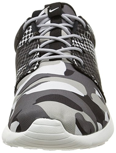 Nike Roshe One Print, chaussures de course homme Smmt White/Blk-Drk Gry-Wlf Gry