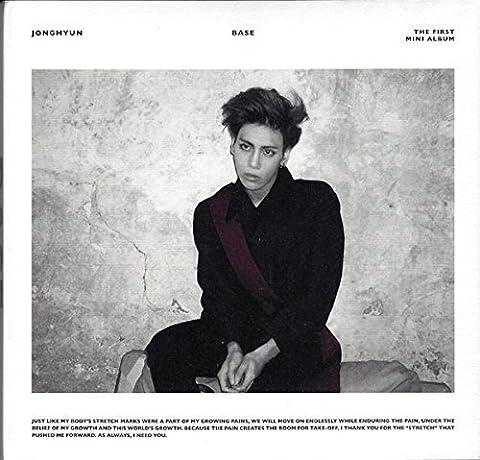 JONGHYUN SHINee - Base (1st Mini Album) [WINE cover] CD + Photobook + Photocard + Extra Gift Photocards Set by SHINee