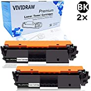 VIVIDRAW compatible toner cartridge replacement for HP 17A CF217A toner, can be used with Laserjet Pro MFP M13
