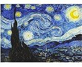 Quadri L&C ITALIA Quadro Van Gogh Notte Stellata Stampa su Tela 70 x 50 per Soggiorno, Camera da Letto, Salotto