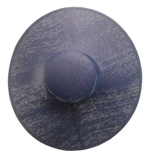 prezzo basso bambino più recente Desconocido Base de pamela de boda para adornar, 50cm diametro copa redonde  de 6cm alto com diadema metalica. (Azul marino)