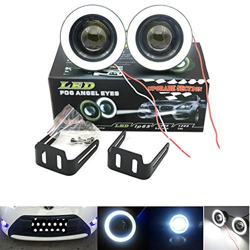 Da 3,589mm LED COB Lampadina Nebbia Lampada per proiettore DRL Halo Angel Eyes Kit