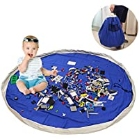 Blau Kinder Spielzeug Speicher Tasche Aufr/äumsack Aufbewahrung Beutel Durchmesser 135cm Tyhbelle Baby Aufr/äumsack Spieldecke