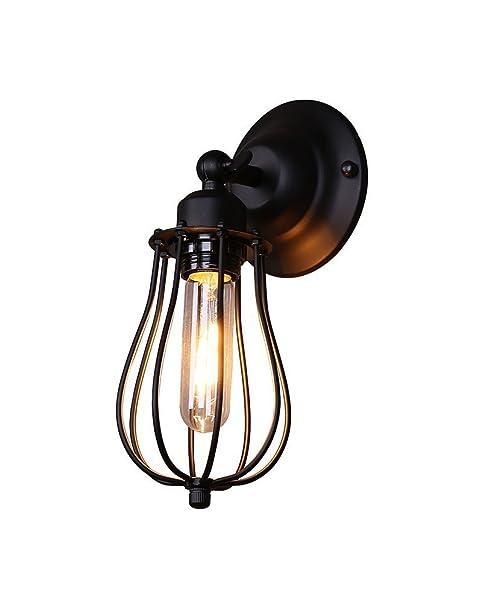 Splink Vintage Style Industriel Lampe Applique Murale en Fer avec ...