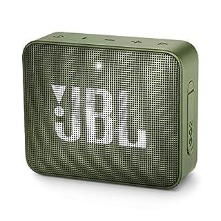 JBL GO 2 kleine Musikbox in Grün – Wasserfester, portabler Bluetooth-Lautsprecher mit Freisprechfunktion – Bis zu 5 Stunden Musikgenuss mit nur einer Akku-Ladung
