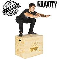 "Gravity Fitness Caja de Saltos Pliométricos 3 en 1 30x20x24"", Plyo Box, Crossfit"